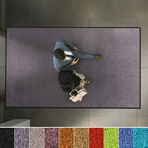 etm Hochwertige Fußmatte   schadstoffgeprüft   bewährte Eingangsmatte in Gewerbe & Haushalt   Schmutzfangmatte mit Top-Reinigungswirkung   Sauberlaufmatte waschbar & rutschfest (40x60 cm, Grau)