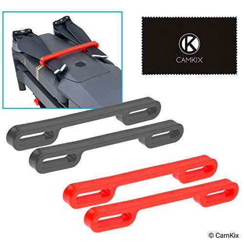 Camkix Propeller Lock Kit Compatible with DJI Mavic Pro / Platinum (2X Red + 2X Black) - Keeps Both Pairs of propellers locked in a parallel position Fixed