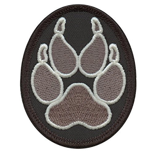 ACU Subdued K-9 Paw K9 Handler Police Dogs of War Morale Army Gear Stickerei Fastener Aufnäher Patch (Dog Name Tag-camo)