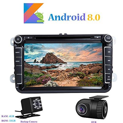 Android 8.0 Autoradio, Hi-azul 2 DIN Radio de Coche Navegación GPS De...
