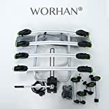 WORHAN® Fahrradträger Heckträger Fahrrad - Gepäckträger Anhängerkupplung ISO9007, UKAS998,, LED (Für 4 Fahrräder FA4