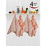 Avira Home Kitchen Towels With Hanging Loop, Pack Of 4,(Multicolor)