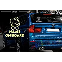 Hello Kitty #1 | Baby - Name On Board | Wunschtext | Auto Aufkleber | Lustig
