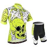 BXIO Uomini Cycling Jersey PRO Team Bike Wear Road Race X-Large Giallo