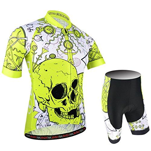 BXIO Männer Jersey- Pro Team Bike Wear Road Race XXL Gelb -