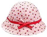 Bevalsa Baby Kleinkinder Fischerhut Strandhut Sommerhut Sonnenschutz Kappe Mütze UV-Schutz Kappe Mütze Schirmmütze Mit Kirsche Erdbeeren Drucken für Kinder Junge Mädchen