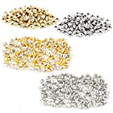7 mm Metall Strass Rund Nieten Spikes DIY Basteln Verzierung Gold und Silber 200 Stück