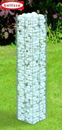 bellissa Colonne de pierre basic / colonne gabions carré 20 x 20 x 118 cm