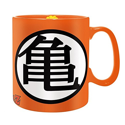 Dragonball Z - Keramik Tasse Riesentasse 460 ml - Kame Haus - Logo - Geschenkbox