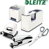 Leitz WOW Schreibtisch Accessoires (Komplett - Set, Weiß │ Grau)
