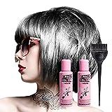Crazy Color Coloration Pour Cheveux Semi-Permanente 100ml (Gris Platinum) - Pack de 2