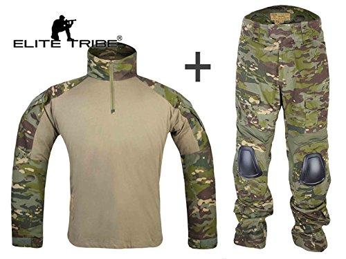 "Elite Tribe Airsoft Militar BDU Traje táctico Combate Gen3 Uniforme Camisa Pantalones Multicam Tropic, S(30\"")"