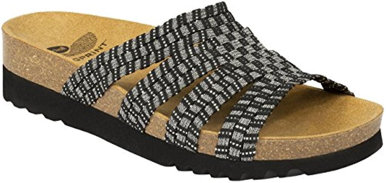 Scholl - Zapatillas de Estar por casa de Tela para Mujer Negro Black Pewter 42 EU