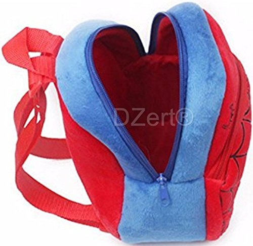 DZert Soft Plush Fabric Multicolour Spiderman Printed School Bag for Baby Boys and Girls Image 4