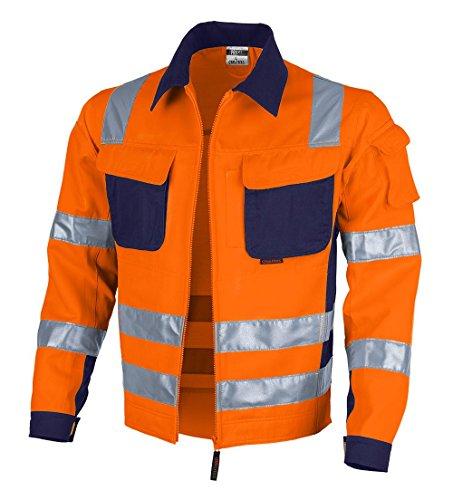 Qualitex Warnschutz-Jacke PRO MG 245 - orange/marine - Größe: 3XL
