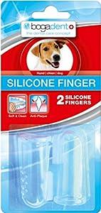 Bogadent UBO0713 Lot de 2 brosses à dents de doigt en silicone pour chien