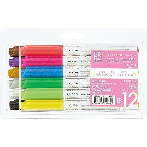 ZIG Wink of Stella Glitter Marker Pens 12pc Set