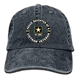 Nizefuture U.S.Army Proud Daughter of A Vietnam VeterAdjustable Baseball Caps Denim Hats Cowboy Sport Outdoor