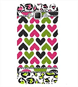 Hearts pattern Back Case Cover for Samsung Galaxy J7::Samsung Galaxy J7 J700F
