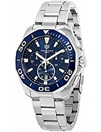 TAG Heuer Men's Aquaracer 43mm Steel Bracelet & Case Quartz Blue Dial Analog Watch CAY111B.BA0927