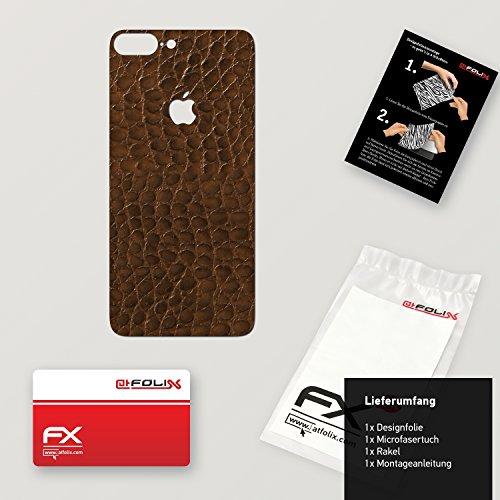 """Skin Apple iPhone 7 Plus """"FX-Wood-Root"""" Designfolie Sticker FX-Everglade-Brown"""