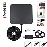 ‏‪HDTV Antenna, KOBWA TV Antenna HD VHF UHF Freeview Indoor Digital Amplified TV Antenna for Life Local Channels Broadcast for All Types of Home Smart Television‬‏