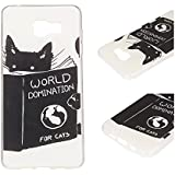Pour Samsung Galaxy A5 (2016) / A5 (2016) Duos (5.2 Pouces)(Non Compatible Avec Samsung Galaxy A5 2015) Coque ZeWoo® Étui en Silicone TPU Housse Protecteur - YG012 / World Domination For Cats