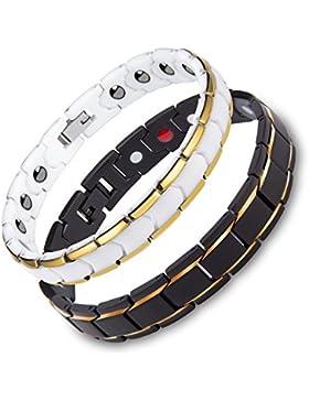 Murtoo Schmuck Partner Armbänder Edelstahl Armband mit Titan Magnet in Geschenkbox
