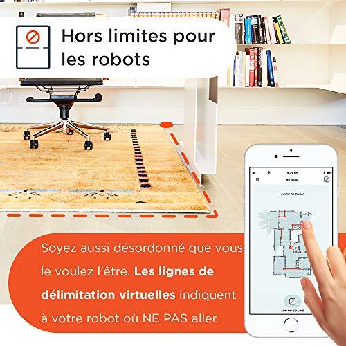 51wUvy3yn0L [Bon Plan Neato] Neato Robotics D701 Connected - Compatible avec Alexa - Robot aspirateur avec station de charge, Wi-Fi & App