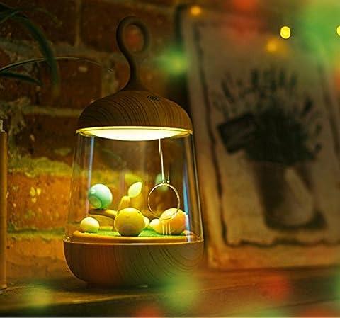 Boîtier De Musique Simple À Led, Tactile, Lumière De Nuit, Salle De Bébé, Usb, Tablette De Chevet, Lampe, Lampe De Bureau D'Éclairage Auxiliaire (120 * 120 * 232Mm) , 1