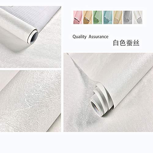 Carta da parati autoadesiva impermeabile camera da letto tinta unita adesivo carta da parati decorazione camera piuma bianca