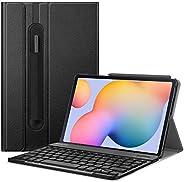 Fintie Tastatur Hülle für Samsung Galaxy Tab S6 Lite 10,4 SM-P610/ P615 2020 mit Stifthalter - Ultradünn Keybo
