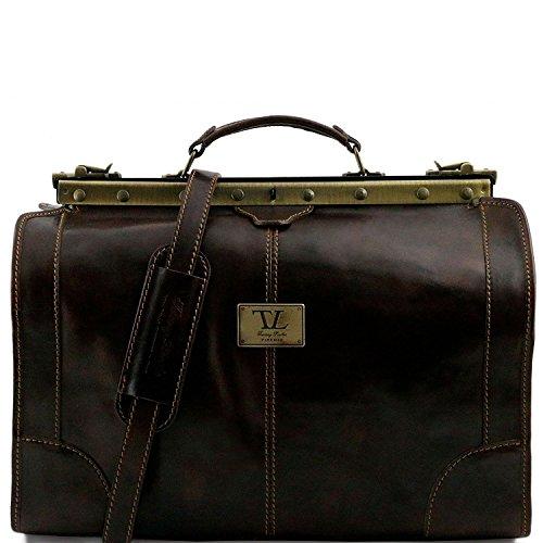 Tuscany Leather - Madrid - Borsa da viaggio in pelle - Misura piccola Rosso - TL1023/4 Testa di Moro
