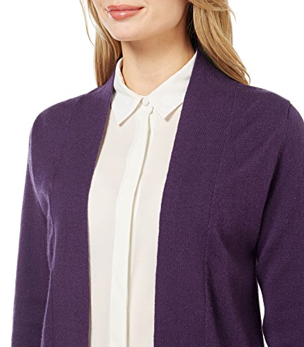 WoolOvers Gilet long ouvert - Femme - Cachemire & Mérinos Blueberry
