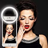 Mindkoo Rosa Selfie Luce Anello Flash Macro Ring Light Portatile LED Esterno Supplementare di Illuminazione Notturna con 3 Livelli di Luminosità per iPhone Samsung HTC Nokia iPad LG Motorola e Altri Smartphone immagine