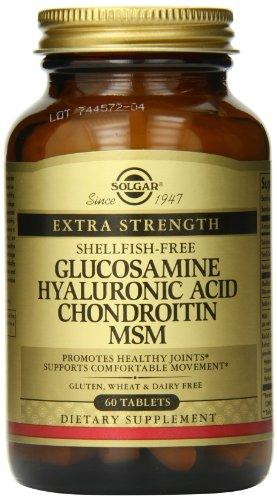 Solgar Glucosamina Acido Hyaluronic Chondroitin   60 Tabletas