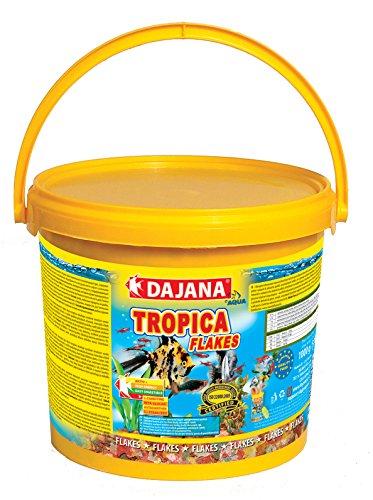 Dajana Tropica Basic - Mangime completo in 7 fiocchi diversi, per tutti i tipi di pesci tropicali (5 lt)