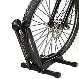Bici supporto da pavimento, supporto bicicletta pieghevole bici deposito rack pavimento comando del supporto interno/esterno