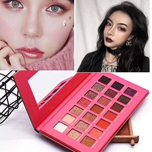 Women Best Gift! Beisoug Shimmer Metallic Eye Shadow Kartoffel-Lidschatten-Palette Glitter-Lidschatten