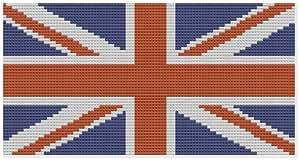 Union Jack–Kit broderie pour point de croix Motif