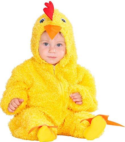 ,Karneval Klamotten' Kostüm Hühnchen gelb mit Kopf Baby Karneval Tier Kinderkostüm Größe 92