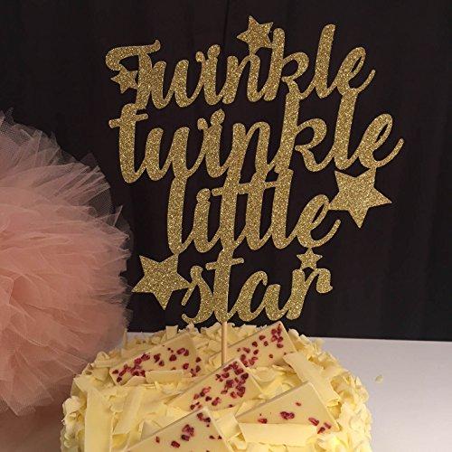 nkle Little Star mit Baby-, Geburtstags-Kuchen-Dekoration, zum 1. Geburtstag, Party, Schriftzug, für Jungen und Mädchen, Party, Geburtstag, Party, Dekoration, 24Stück ()