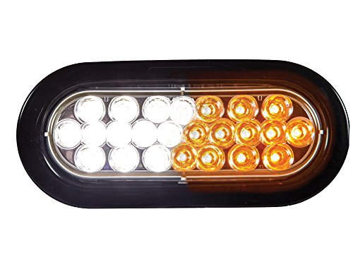 Preisvergleich Produktbild Buyers Products SL66AC Amber/Clear Oval Strobe Light (6.5in OVAL)