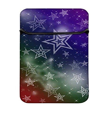 Weiß Sterne 237810, um 26,9cm Laptop Hülle Sleeve Case mit Reißverschluss und 2integrierten...