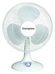Crompton HiFlo LG 50-Watt Table Fan (Light Grey)