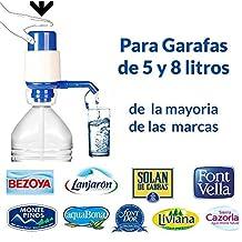 Dispensador de agua manual para garrafas de MovilCom® | Bomba compatible con botellas (PET) de 2,5, 3, 5, 6, 8 y 10 litros | para botellas con el tapón diámetro 38mm y 48mm