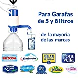 Dispensador de agua manual para garrafas de MovilCom® | Bomba compatible con botellas (PET) de 2,5, 3, 5, 6, 8 y 10 litros | para botellas con el tapón diámetro 38mm y 48mm