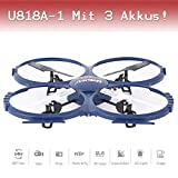 Drohne with PRO HD Camera CAM RC Quadrocopter UFO Winner ORIGINAL UDI U818A - 1 Ready-To Fly 3D Flip 4.5 2.4 GHz 3 Channel Ready to Fly St.AKKU