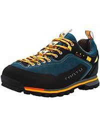 Showlovein - Zapatillas de pesca de Material Sintético para hombre, color naranja, talla 41 EU