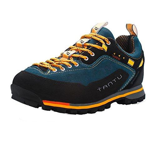 Showlovein Herren Outdoor Schuhe Trekking & Hiking Shoes, Orange, 44 EU